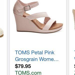 TOMS Pink Wedges